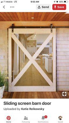 Diy Screen Door, Rolling Screen Door, Room Screen, Diy Door, Casa Patio, The Doors, Entry Doors, Entrance, Entryway