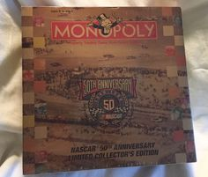 Monopoly NASCAR 50th Anniversary Limited Collector's Edition Game Custom Board  #USAOPOLY
