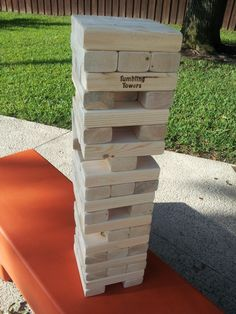 Great Party Game.  This will be the life of the party.  Have everyone sign a block! Large Tumbling Tower Game -  2.5FT Plain 2x3 Set Giant Blocks Game