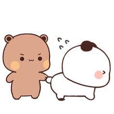 Cute Bear Drawings, Cute Little Drawings, Cute Kawaii Drawings, Cute Kiss, Cute Love Gif, Cute Cat Gif, Cute Cartoon Pictures, Cute Love Pictures, Cute Love Cartoons