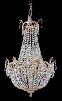 Diamant Crystal Kronleuchter Versailles Weiß Gold #kronleuchter #klassisch  #kristall
