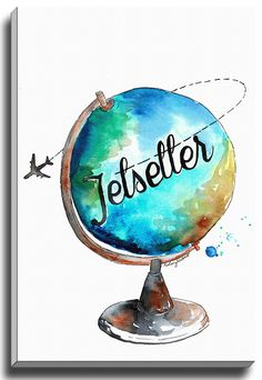 Jetsetter Gogetter by Kelsey McNatt Painting Print on Gallery Wrapped Canvas