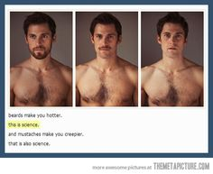 This is science. Also what's going on with this guys chest hair?