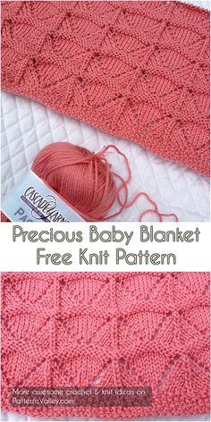 Precious Baby Blanket [Free Knit Pattern] #knitting #knit #knittingpattern #babyblanket
