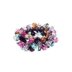 Caravan Clear And Multiple Color Faceted Beads Creates This Grand Elastic Ponytail $10