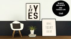 Black on White posters by Lis - Sims 3 Downloads CC Caboodle