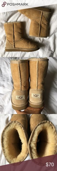 Short Ugg Boots Like new except for minimal scuffing in front (pictured). Perfect otherwise. UGG Shoes Winter & Rain Boots