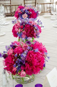 Fuchsia-and-Purple-Centerpieces