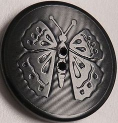 Antique Vegetable Ivory Butterfly Button, Sew-through