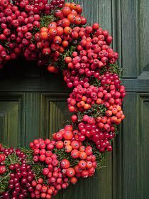 ozdoby na Stylowi.pl Wreaths, Autumn, Vegetables, Diy, Beautiful, Blues, Thanksgiving, Decorations, Gold