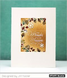 NEW stamps, dies, and pattern paper | Click through to check out Penny Black's newest collection, Be Merry