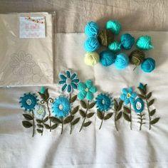 kit bordado flores
