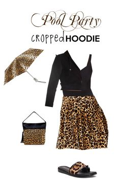 """Pool Party Cropped Hoodie"" by pinky-dee ❤ liked on Polyvore featuring Letarte, Donald J Pliner, Big Buddha, Totes and Bloch"