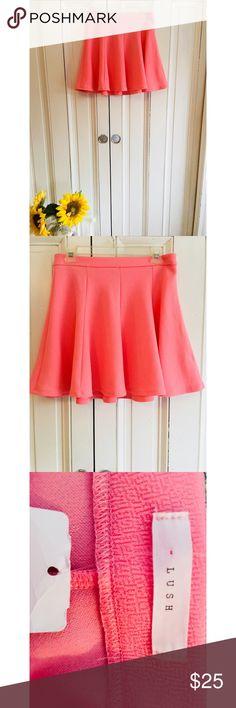 Pink skater skirt! Adorable bubblegum colored skater girl skirt! So cute!!   ———  #skirt #pink #bubblegum #cute Lush Skirts