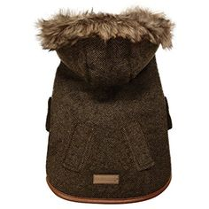 FouFou Dog 63052 Chelsea Coat for Dogs, XX-Large, Brown -- Read more at the image link. (This is an affiliate link) #DogApparelAccessories
