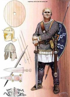 Imperial Roman Legionary, mid-to-late III Century AD. - by Angus McBride