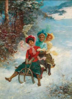 Hans Zatzka(Vienna 1859–1945) The sledge ride