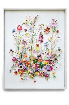 Flower construction #57 (w:80 h:100 d:6.5 cm)