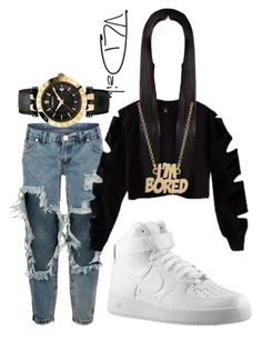"""""""Untitled #322"""" by lilly-love-868 on Polyvore featuring One Teaspoon, NIKE, Marc by Marc Jacobs and Versace"""