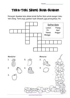 Fun Activities Crossword Puzzles For Kids Printable And