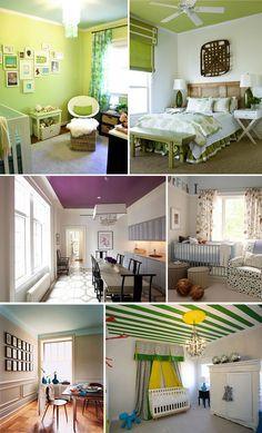 I wasn't fond of painted ceilings at first, but its growing on me!