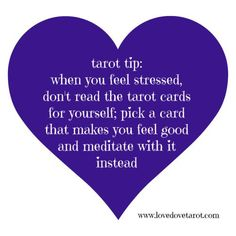 Tarot Tip - Meditation Instead of Reading