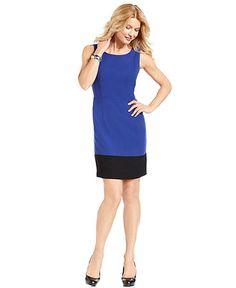 Nine West Dress, Sleeveless Colorblock Sheath - Womens Suits & Suit Separates - Macy's