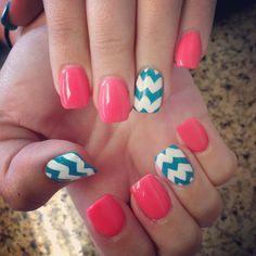 Pink+blue+white chevron
