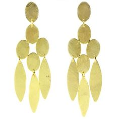 Loyala Medium Chandelier Earrings By Marcia Moran  Beatrix's little sister! Rhodium plated brushed ovals and three marquise shapes create a beautiful chandelier earring that takes the cake any day.