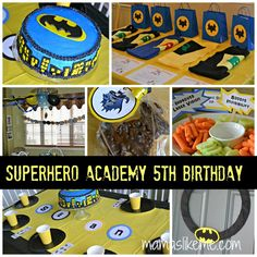 Batman birthday party - love the ideas on this blog page!