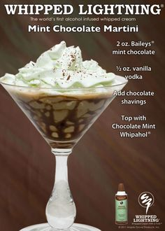 Chocolate Mint Martini -- I dont care for mint but wow that looks tasty!