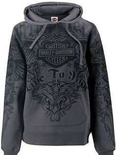 Harley-Davidson Womens Tribal Wings All-Over Print Pullover Hoodie Sweatshirt