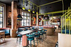 Nandos Danforth by DesignAgency Nando's Restaurant, Restaurant Design, Restaurant Interiors, Soho House, Design Firms, Canteen, Interior Design, Architecture, Space