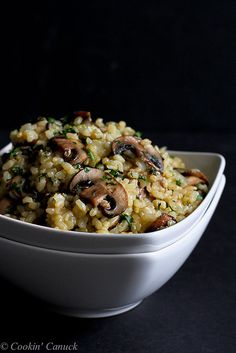 Toasted Brown Rice Mushrooms Thyme