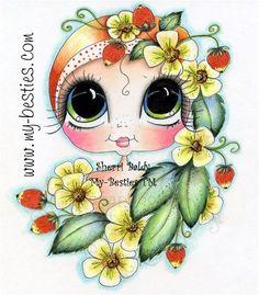 Sherri Baldy Besties | My-Bestie Strawberry Besties Sherri Baldy Fine Art Print-
