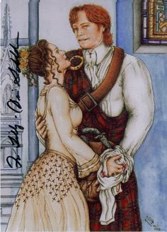 One of my favorite examples of OUTLANDER fan art, by Lilly.