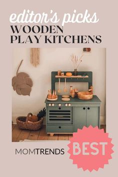 This type of play goes beyond gender and teaches kids loads of life skills along the way. An investment in a play kitchen is money well spent, as it can provide hours of entertainment. We've rounded up the ten best wooden play kitchens for kids to help get your little chef's imagination to work.