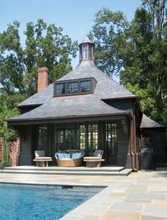Pool house by Pursley Architecture.