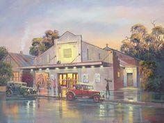 size: Giclee Print: A Night at the Movies by John Bradley : Movie Prints, Custom Framing, Giclee Print, Fine Art Prints, Night, House Styles, Movies, Planes, Trains