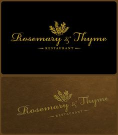 Logo for Rosemary & Thyme by predragorn
