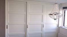 inbouwkast schuifdeuren Built In Wardrobe, Closet Doors, Kitchen Pantry, Storage Cabinets, Sliding Doors, Wardrobes, Armoire, Master Bedroom, Interior Design