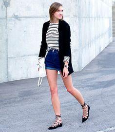 listras + blazer + jeans