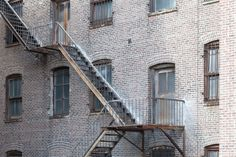 © Zachary Tyler Newton // New York City -High Line Park // West Chelsea Backside of an old industrial building with rusted fire escape.