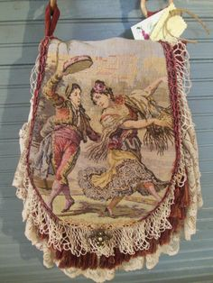 Large Tapestry Bag / Boho bag / Vintage by BlackEyedSusiesGifts Handmade Handbags, Handmade Bags, Diy Crafts For Boyfriend, Shabby Chic Quilts, Lace Purse, Large Tapestries, Estilo Country, Diy Wedding Dress, Diy Bags Purses