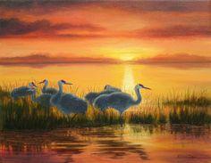 Oil Pastel Sunset