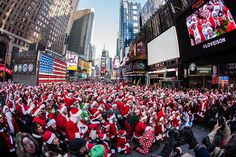 Different Christmas events organised around the world attract millions of tourists. One of the best examples seems to be SantaCon in New York. Just imagine how many presents you get from all these Santa Clauses!