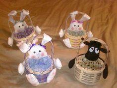 My handmade Easter baskets.