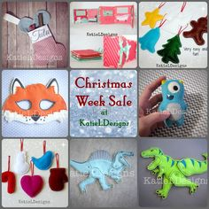 """Christmas Week Sale at KatieLDesigns! Beautiful and fun machine embroidery designs, lots of In The Hoop! If there are any last minute present makers, this sale's for you! Use Codes: """"CMSWEEK25"""" - 25% off $20 or more, or """"CMSWEEK50"""" - 50% off $40 or more. Ends 12/25"""