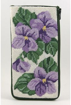 Eyeglass Case - Sweet Violets - Needlepoint Kit