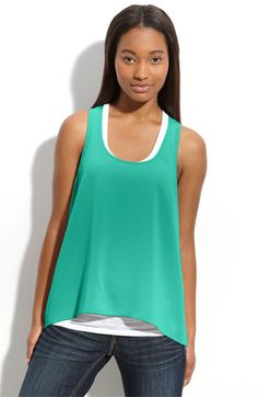 Has been my Spring and Summer staple - Frenchi® Silky Sleeveless Top (Juniors) | Nordstrom